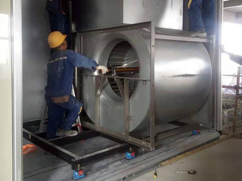 中央空调风机叶轮安装现场